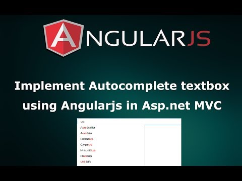Implement Autocomplete Textbox using AngularJS from database in Asp.net MVC