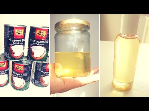 DIY | HOW TO make Coconut oil with Canned Coconut MILK at Home