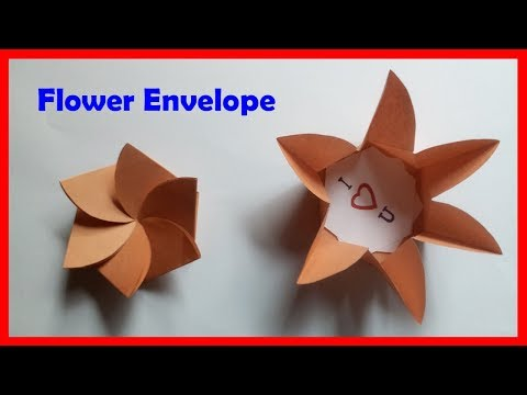 DIY Flower Envelope Without Glue Or Tape