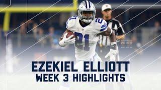 Ezekiel Elliott Highlights | Bears vs. Cowboys | NFL Week 3 Player Highlights