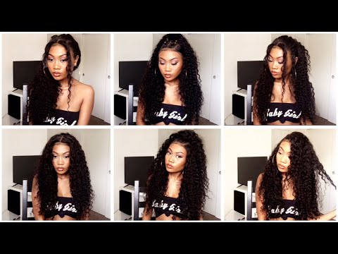 Curly Hair Styles on a Lace Front Wig | NO LEAVE OUT!!