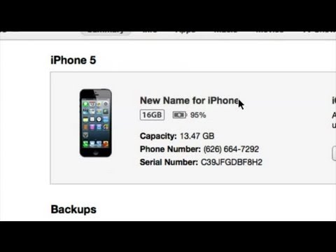 How to Change the iTunes iPhone Device Name : iTunes Help