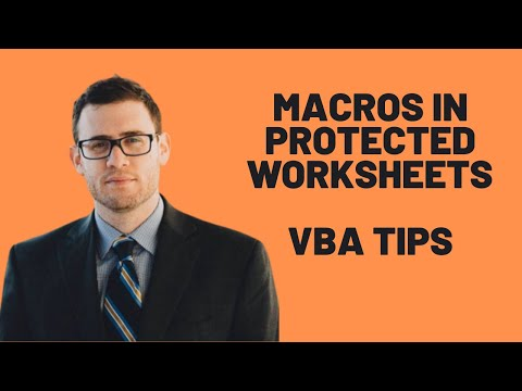 How To Run Macros In Protected Worksheets - Excel VBA Tips