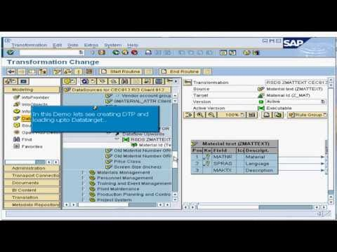 16. How to create a DTP and load data to the data target in SAP Business Intelligence (BI / BW)
