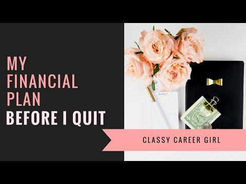 My Financial Plan Before I Quit My Day Job