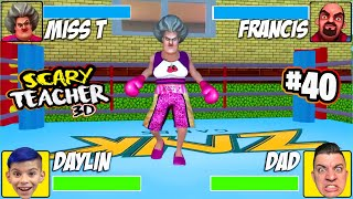 WE BOXED MISS T (Scary Teacher 3D) A KNOCK OUT PRANK! Part 40