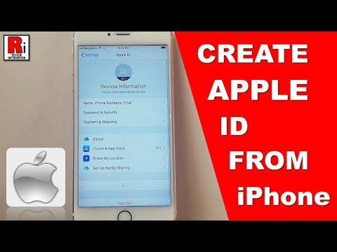 HOW TO CREATE APPLE ID FROM IPHONE
