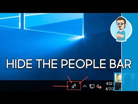 Windows 10 People Bar | How to Hide It!