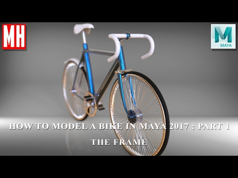 How to model a bike in Maya 2017  : Part 1 of 5 The Frame