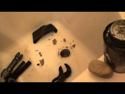 easy tricks to replace tub drain shoe without special tools, tutorial