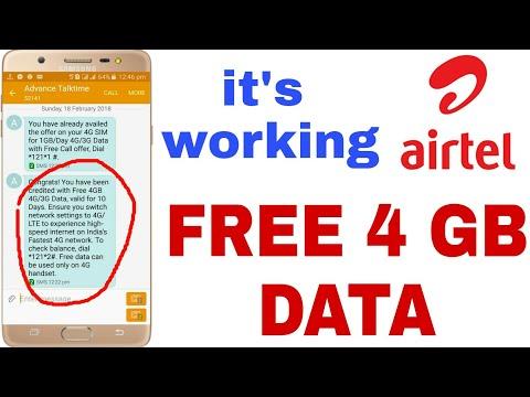 AIRTEL 4GB FREE 4G/3G INTERNET OFFER. | HOW TO GET AIRTEL FREE INTERNET  4GB DATA