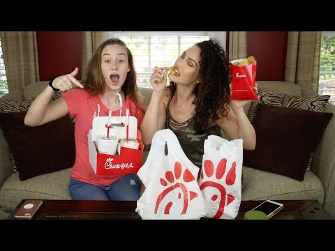 Chick-Fil-A Mukbang Q&A with my Daughter | The Glam Belle