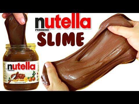 DIY NUTELLA SLIME | How to make slime without borax