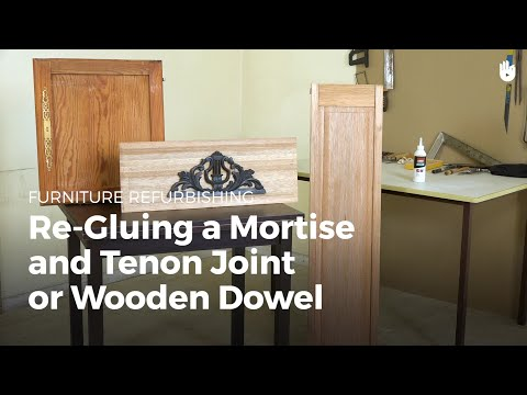 Re-Gluing a Mortise and Tenon Joint or Wooden Dowel | Furniture Restoration