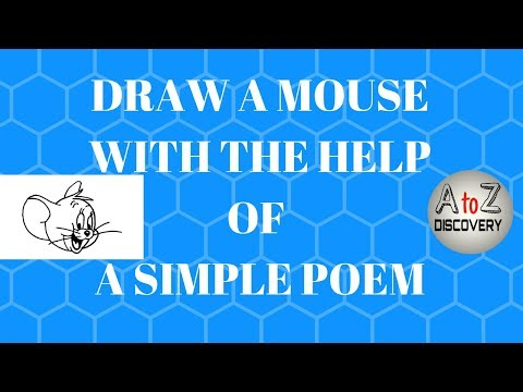 How to draw a mouse with the help of a simple poem | cartoon mouse and animated mouse