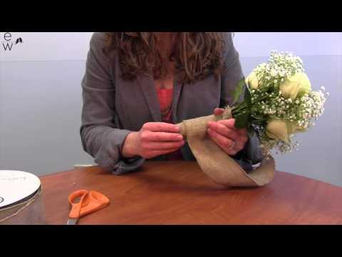 DIY Bouquet Wrap with 2 5