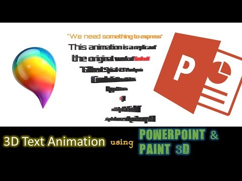3D Text Animation using PowerPoint 2016 and Paint 3D | The Teacher