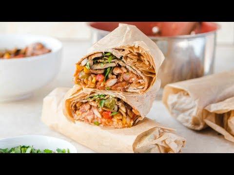 Vegan Rice & Bean Burritos 🌯 (Freezer-Friendly!)
