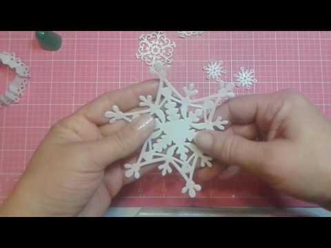 3d snowflake ornament tutotial