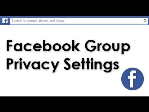 How to change Facebook Group privacy settings