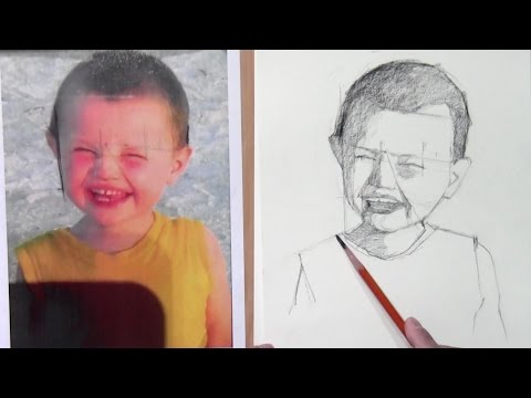 How to draw a portrait from photo step by step