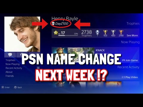 PSN NAME CHANGE ANNOUNCEMENT COMING SOON !?