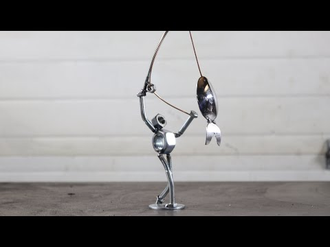 How To Weld A Fisherman Using Silverware With BarbieTheWelder