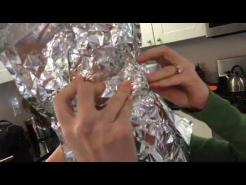 Mask Step 1: Aluminum Foil Mold
