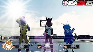 NBA 2K16| ALL Legend 3 Mascot SQUAD!! | Streaking @ MyPark!!! - Prettyboyfredo
