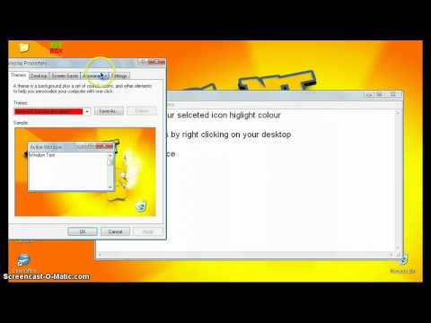 How To Change Highlight Colour [Windows XP Only]
