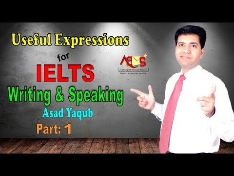 Useful Expressions for IELTS Writing and Speaking | Asad Yaqub | Part 1