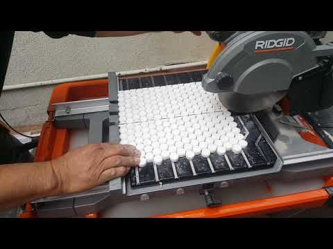 How to cut penny tile with a wet saw