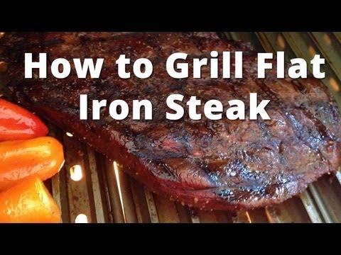 How to Grill Flat Iron Steak - grilling flat iron steak