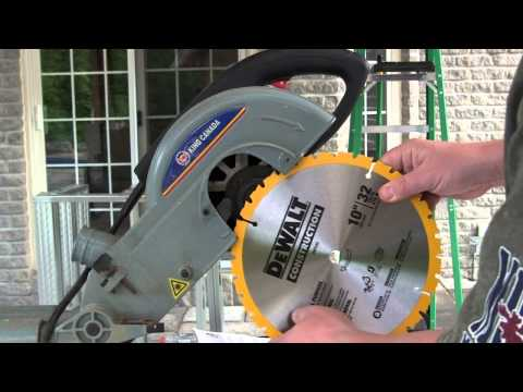 Miter Saw Blade Change HowTo - 10 inch -  King Canada 9362