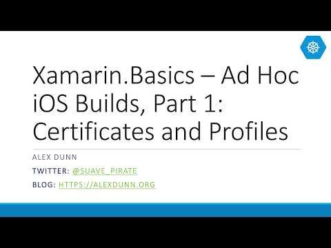 Xamarin.Basics – Ad Hoc iOS Builds, Part 1: Certificates and Profiles