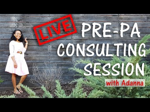 Pre PA (LIVE) Consulting Session with Me! - Appointments now available!