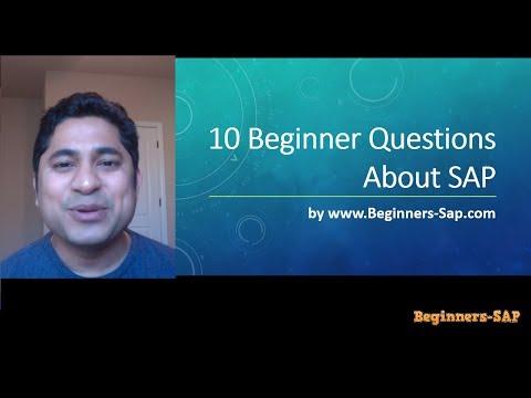10 Beginner Questions about SAP