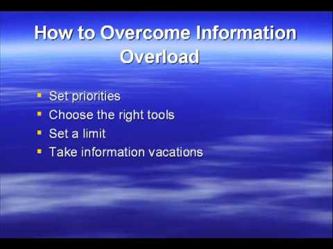 How to Overcome Information Overload