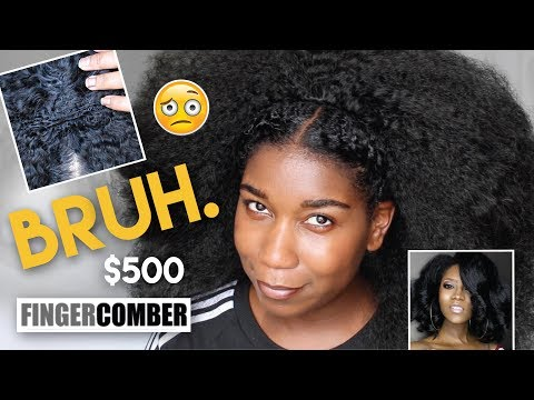 WTH!? I spent $500 on this!? First Impression FINGERCOMBER Natural Hair Wigs