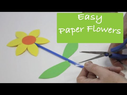 How to Make Paper Flowers - art and craft activity for preschool kids