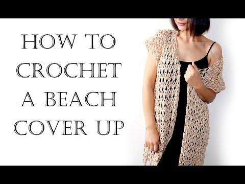 Crochet Easy Summer Vest   Beach Robe   Cover Up