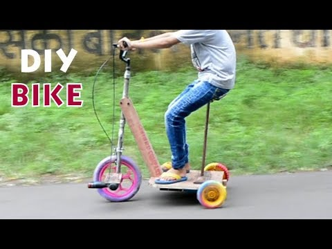How To Make a Drill Powered Electric Scooter at home - For Kids