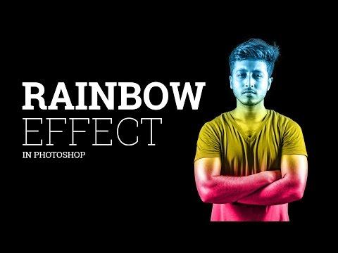 Tutorial Photoshop CC : Rainbow Effect in photoshop