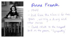The Poem Sympathy and Anne Frank