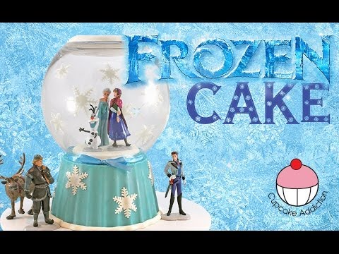 FROZEN Snow Globe Cake! Disney Frozen Fever Princess Cake with Anna, Olaf, Elsa and the whole gang!