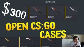 CRAZY $300 CSGO Case Opening! With GIVEAWAY