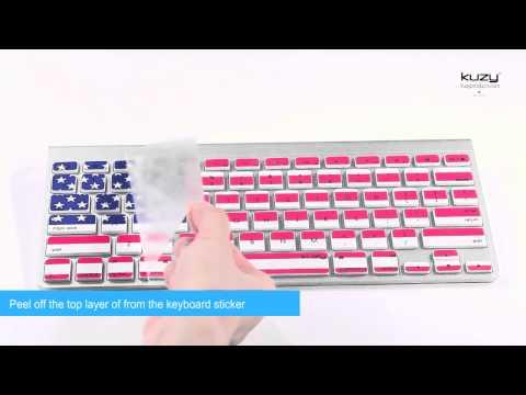 Kuzy - Keyboard Stickers/Skins for MacBook and Apple Wireless Keyboard - Easy Installation Proccess