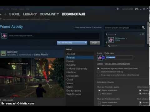 steam tutorial- username changing