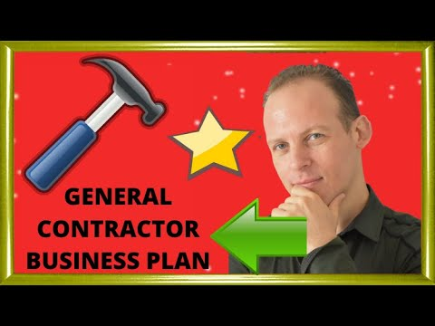 Business plan for a general contractor business & how to start a general contractor business