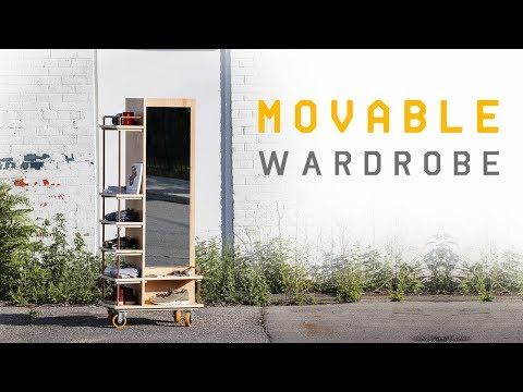 DIY Movable Wardrobe | Single Sheet Of Plywood  #rocklerplywoodchallenge